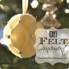 Felt Snowball Ornament