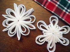how to make felt snowflakes