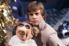 Mark Hamill and Miss Piggy