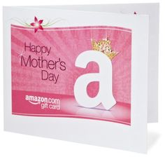 Amazon Gift Card - Print - Happy Mother's Day - Crown $50.00