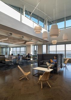 """""""Our plan puts a lot of conferencing in the core, and we got rid of the cubicle walls, which allows for better views and more natural light,"""" says Orpilla."""