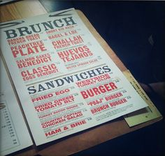 menu idea