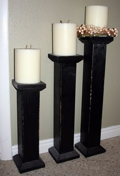 Homemade Candle Holders...... Cant wait!!!