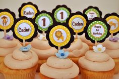 King of the Jungle Cupcake Toppers Happy Birthday Party Decorations - Jungle Theme Birthday Party. $11.00, via Etsy.