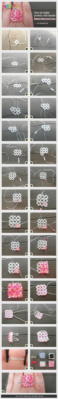 how to make jewelry with beads - making bling bead rings