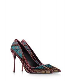 Nicholas Kirkwood Mexican Embroidered Pump - Pointed Toe Pump - ShopBAZAAR