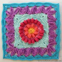 Crown Jewels Crochet Square Photo Tutorial