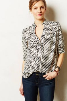 Love this look!!  Laceshine Blouse - anthropologie.com #AnthroFave