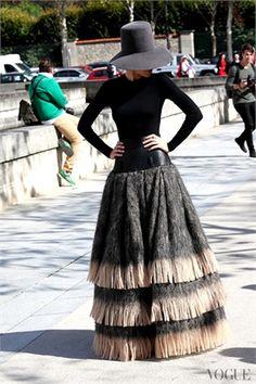 fashion weeks, paris fashion, inspiration, style inspir, skirts, street styles, parisian chic, belts, hat
