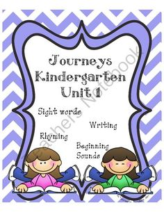 Kindergarten Journeys Unit 1 from Tracy Custer on TeachersNotebook.com -  (22 pages)  - This packet correlates with the Journeys Reading Series Kindergarten Unit 1, lessons 1-5.