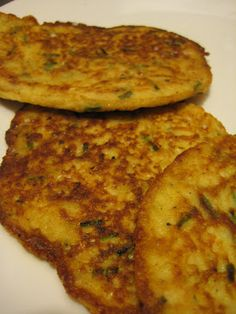 Fresh Corn and Parmesan Griddle Cakes...so delicious! I left the corn ...
