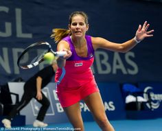 Julia Goerges during her loss to Varvara Lepchenko in R1 of Luxembourg  http://www.womenstennisblog.com/2014/10/14/cornet-lisicki-advance-luxembourg-highlights/