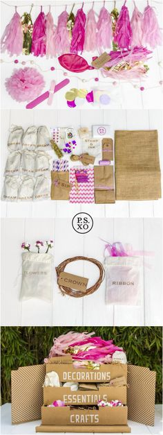 Everything you need in one box to throw the perfect fairy party! visit www.psxo.com to find out more about our products!