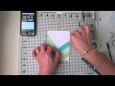cardmaking video: 10 Minute Craft Dash ... shows how to  create a washi tape herringbone pattern on the card ... great video ... no speaking ...