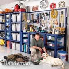 How To Build A Garage Storage Wall - quick & easy way to build sturdy shelves that you can easily customize to suit your needs.