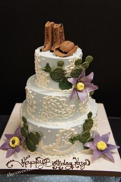 Female Western theme cake