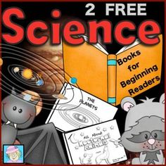 2 FREE Science Books for Beginning Readers from TeacherTam on TeachersNotebook.com -  (8 pages)  - FREE!  2 Free Science Books for Beginning Readers.  This sample set contains 2 science books for beginning readers.  The titles included in this set are: 1.All About Nocturnal Animals & 2.The Planets.