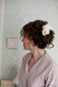 Loosely pinned up-do