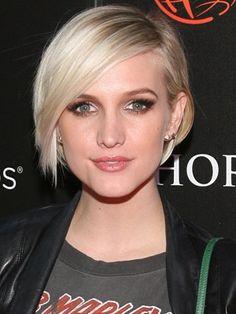 Ashley Simpson cute blonde short hair