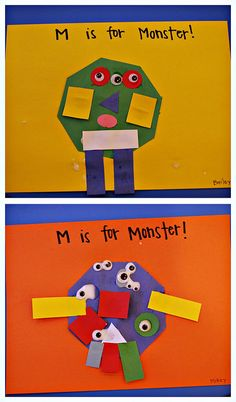 M is for Shape Monster...