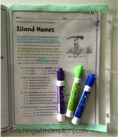 Make a dry-erase pocket for textbooks that students can write on top of