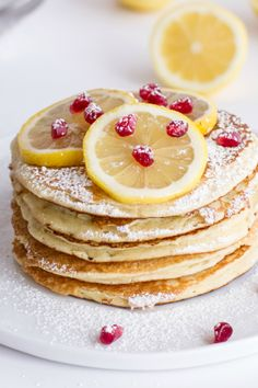 Rich, fluffy, and easy to make Lemon Ricotta Pancakes!