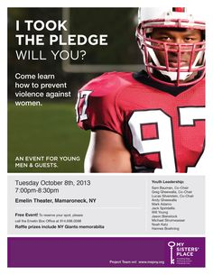 "MSP ""Take the Pledge"" at Emelin Theatre in Mamaroneck on October 8th! This event is ran by our Youth Leadership Team and is FREE!   Call 914-698-0098 to reserve your ticket!"
