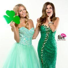 Happy Saint Patrick's Day from Flirt Prom! www.flirtprom.com #prom #holiday #luckoftheIrish #emerald #green
