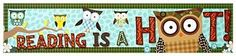 Reading is a Hoot Owl Banner