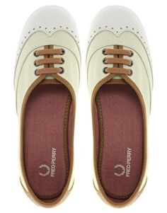 Enlarge Fred Perry Larks Linen Canvas Plimsolls