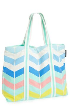 This chevron tote is perfect for the beach