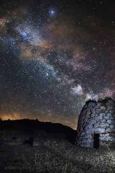 Nuraghe under the stars by Fabrizio Lutzoni on 500px Italy