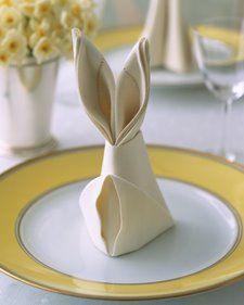 Bunny napkins :)