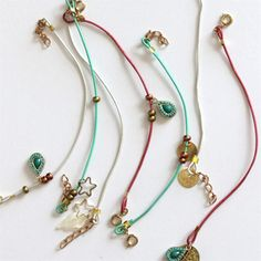 Beautiful, summery friendship bracelets that are really easy to make. They are perfect for using up  old charms.