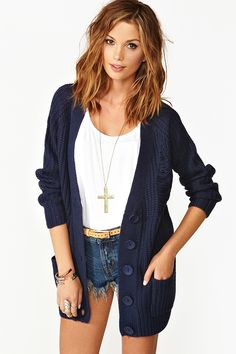 Shredded Cardi (don't like that the cardigan is shredded but the outfit itself is simple, comfortable and stylish)