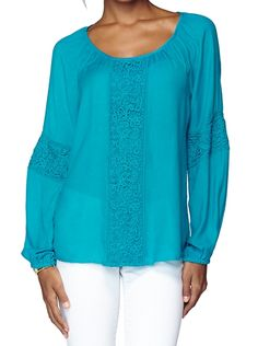 Lilly Pulitzer Briony Top in Deep Cyan