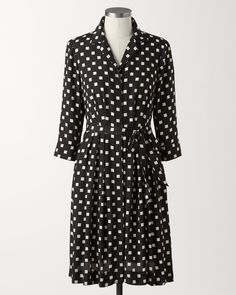 Square dots shirtdress | Coldwater Creek