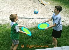 Make a trampoline Bouncing Ball game .. for an outdoor  game the kids will love. Rules for SOLO play, TWO PLAYER or GROUP PLAY.  Fun party game.