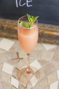 Strawberry Lemonade Mint Cocktail