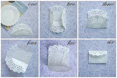 paper doily envelope tutorial