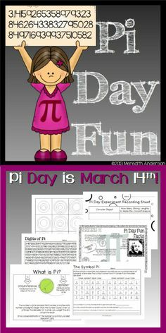 Pi Day Fun! Learn about pi with these hands-on math and art activities.