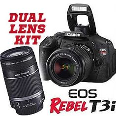 Camera Canada :: Canon :: EOS Rebel T3i Dual Kit 2 (18-55is + 55-250is lens) - I should totally get this for my birthday...