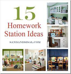 kids homework room, homework station, decorating ideas, kids homework desk, organize kids school work, kids office, home offices, 4 kids, homeschool desk ideas