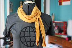 neckerchief tshirt, sew, upcycl, t shirt scarves, tshirt scarf, craft projects, diy project, t shirts, t shirt crafts