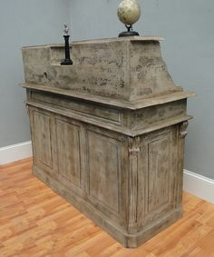 French Antique Repro Check Out Counter Reception Desk