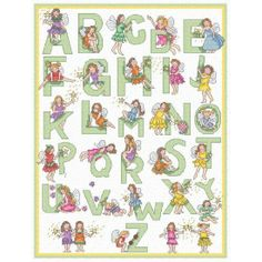 cars alphabet cross stitch patterns | Patterns by Download > Alphabets > Fairy alphabet.