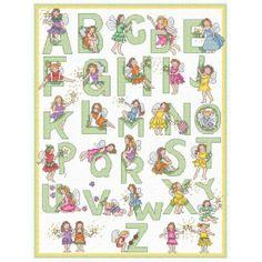 cars alphabet cross stitch patterns | Patterns by Download > Alphabets > Fairy alphabet.