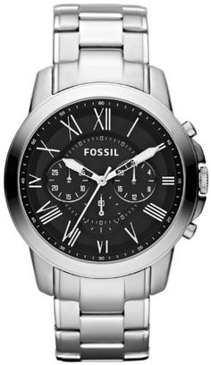 Fossil Men's FS4736 Grant Stainless Steel Watch $77.36 #Fossil