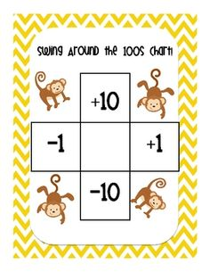 Swinging Around the 100s Chart....Ten More, Ten Less, One More, One Less