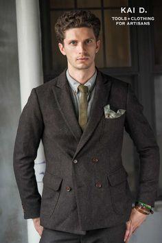 Wool herringbone tweed Snyder Jacket by Kai D. www.kaidutility.com. #madeinnewyork
